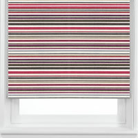 Maine Jazzberry Patterned Roller Blinds