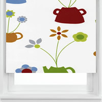Teapot Flowers Grey
