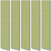 Olive Green Vertical Blinds, High Quality Made to Measure