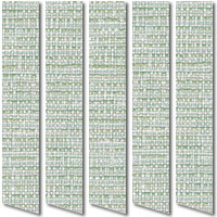 Natural Rustic Turquoise, White & Moss Green Vertical Blinds