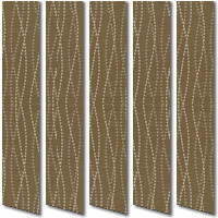 Nostalgia Bisque Brown Vertical Blinds