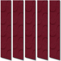 Patterned Burgundy Red Vertical Blinds, Classic Deep Wine Red