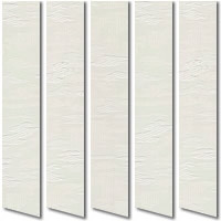 Cloudy Patterned Ivory Vertical Blinds, Made to Measure Creamy Slats