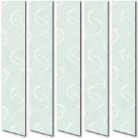 Patterned Emerald Green Vertical Blinds, Beautiful Pastel Green