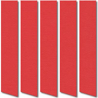 Pillar Box Red Vertical Blinds, Gloriously Colourful Louver Fabric