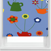 Teapot Flowers Blue
