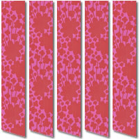 Fabulous Printed Flowers Pink & Cerise Red Vertical Blinds