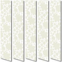 Printed Flowers White Vertical Blinds, Pretty Funky Feminine Fabric