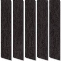 Plush & Opulent Black & Purple Patterned Vertical Blinds