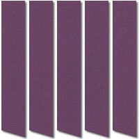 Purple Blackout Vertical Blinds, Glorious Rich Thermal Blackout