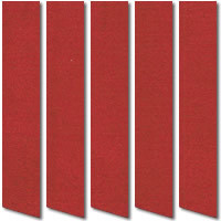 Red Suede Vertical Blinds, Fabulous Warm & Deep Suede Fabric