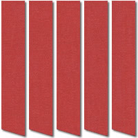 Ruby Red Blackout Vertical Blinds, Luxury Made to Measure