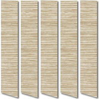 Naturally Textured Rustic Golden Beige & Brown Vertical Blinds