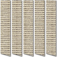 Organic Light & Dark Brown Vertical Blinds Luxury Rustic Fabric