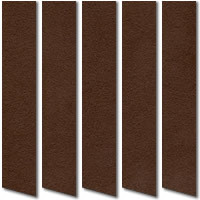 Saddle Brown Suede Vertical Blinds, Sumptuous Suede Fabric