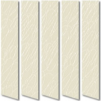 Contemporary Patterned Scrapple White & Cream Vertical Blinds