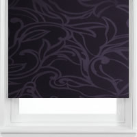 Luxury Shimmering Purple Floral Contemporary Roller Blinds