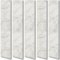 Silver Blue & Platinum Marble Patterned Waterproof PVC Vertical Blinds