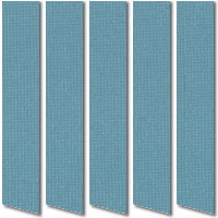 Sky Blue Vertical Blinds, Quality Made to Measure Blinds