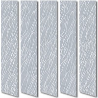 Funky Grey Vertical Blinds Squiggly Patterned Fabric Slats