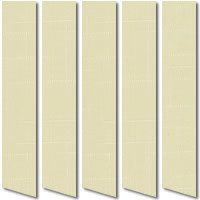 Very Attractive Subtle Patterned Creamy Pale Yellow Vertical Blinds