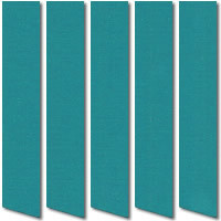 Teal Blackout Vertical Blinds, Fire Resistant Thermal Fabric