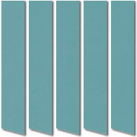 Vibrant Teal Blue Green Waterproof PVC Vertical Blinds