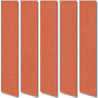 Terracotta Vertical Blinds, High Quality Made to Measure