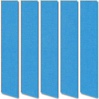Royal Blue Blackout Vertical Blinds, Vibrant Luxury Thermal Fabric