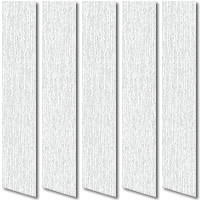 White & Glitter Silver Vertical Blinds, Shimmers & Sparkles Fabric