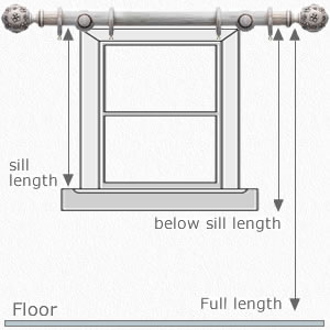How to Measure Curtains Drop