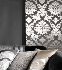 Damask Fabric Roller Blind