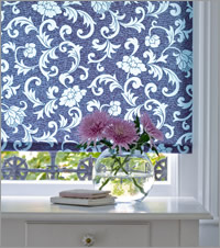 Funky Blue Patterned Roller Blind