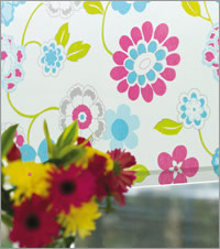 Funky Floral Patterned Roller Blind