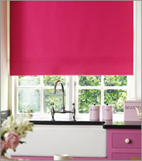 Pink Kitchen Roller Blind