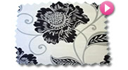 Black and White Roman Blinds