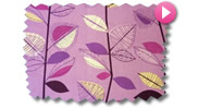 Lilac and Pink Roman Blinds