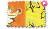 Orange and Yellow Roman Blinds